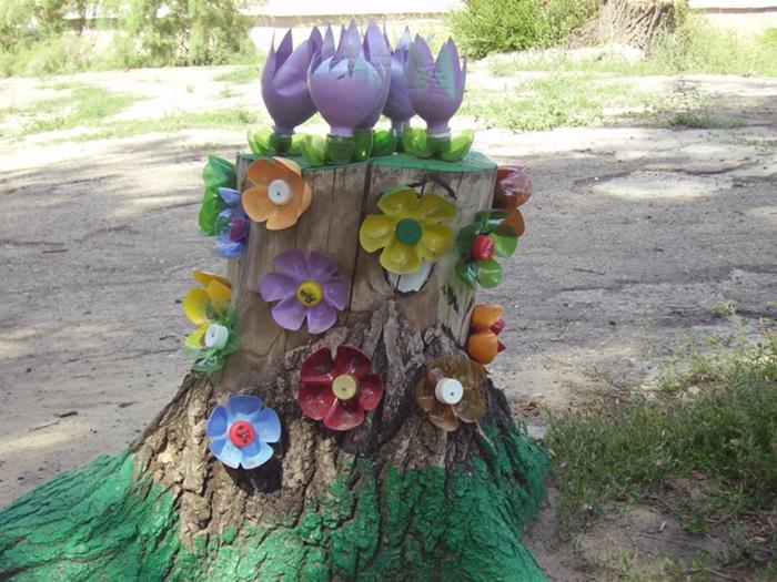 Украсить участок в саду